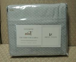 SWEET HOME COLLECTION TWIN 1500 THREAD COUNT 4 PIECE DOT SHE