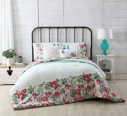 VCNY Home Martha Reversible Floral to Stripe 4 Piece Bedding