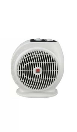 Warmwave 1500-watt Portable Electric Fan Heater White