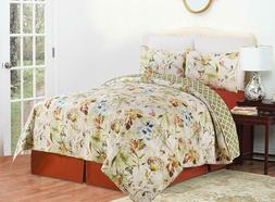 watercolor 3 pc quilt set king or
